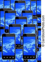 bleu, image, ciel, smart-phones