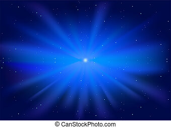 bleu, incandescent, étoile