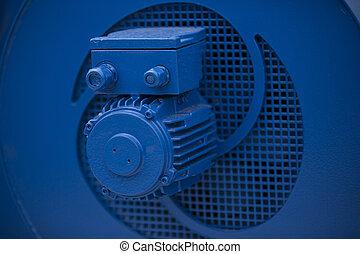 bleu, industriel, moteur électrique