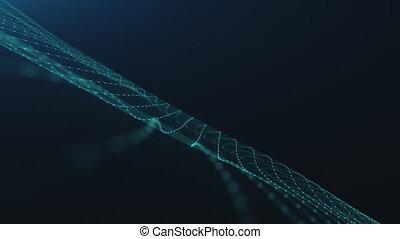 bleu, information, graphique, mouvement, connecté, unités, dentelle, filet