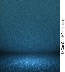 bleu, intérieur, vide, projecteur, fond