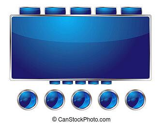 bleu, interface