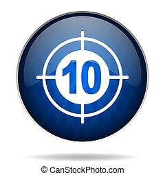 bleu, internet, cible, icône