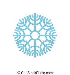 bleu, isolated., neige, fond, snowflake blanc