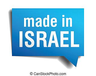 bleu, israël, fait, isolé, réaliste, parole, fond, blanc, ...