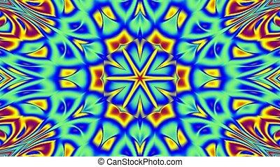 bleu, jaune, kaléidoscope