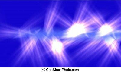 bleu, jet, rayons, pourpre, pinceau lumineux