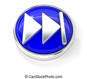 bleu, jeu, bouton, lustré, rond, icône