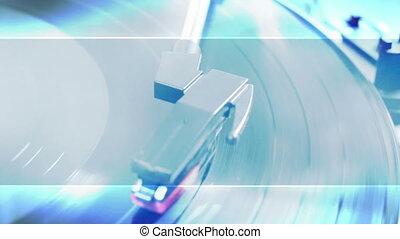 bleu, joueur, enregistrement, voile de surface