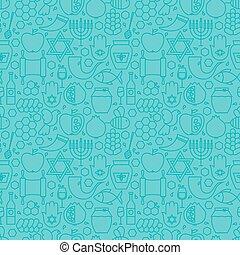 bleu, juif, modèle, seamless, mince, année, nouveau, ligne, ...