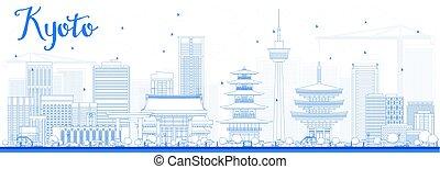 bleu, kyoto, horizon, contour, landmarks.