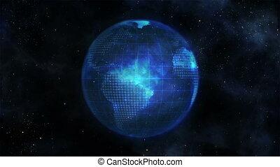bleu, la terre, itself, tourner