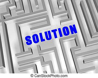 bleu, labyrinthe, solution