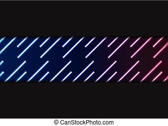 bleu, laser, néon, résumé, lignes, ultra-violet, fond