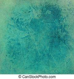 bleu, lavé, papier, grunge, impression