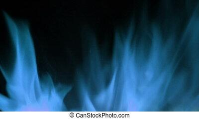 bleu, lent, flammes, cinéma, brûler, mouvement, élevé, appareil photo, super, shooted, vitesse