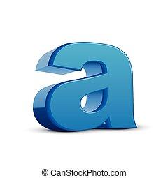 bleu, lettre minuscule