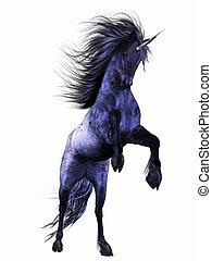 bleu, licorne