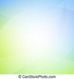 bleu, ligne, arrière-plan vert