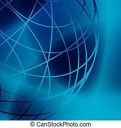 bleu, -, lignes, sombre, vecteur, fond, lumière, brillant