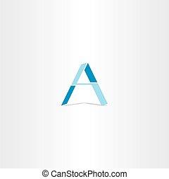 bleu, logo, conception géométrique, lettre
