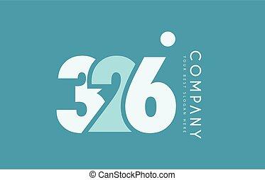 bleu, logo, nombre, 326, cyan, conception, blanc, icône
