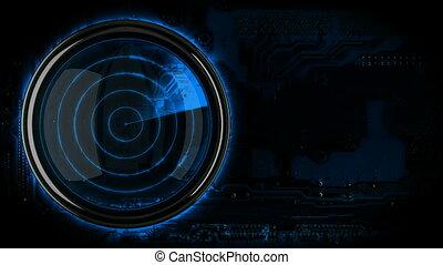 bleu, loopback, radar, exposer