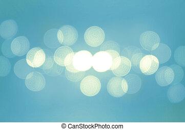 bleu, lumières, fond