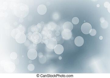 bleu, lumières, noël, fond