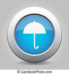 bleu, métal, bouton, parapluie