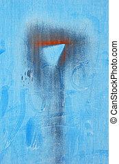 bleu, métal
