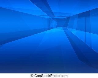 bleu, manière, espace