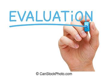 bleu, marqueur, évaluation