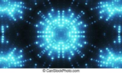 bleu, mené, vj, fond, cercle, animé