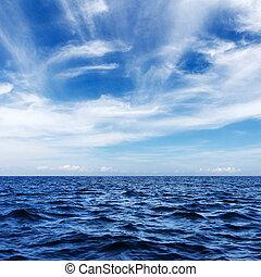 bleu, mer