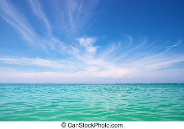 bleu, mer, sky.