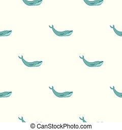 bleu, modèle, baleine, seamless
