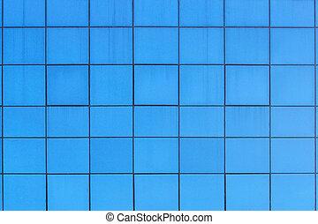 bleu, modèle, carrée, fenetres