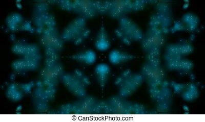 bleu, modèle, fantaisie, fleur