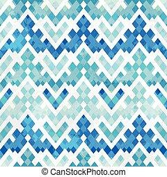 bleu, modèle, géométrique, seamless