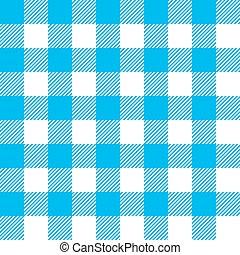 bleu, modèle, nappe, seamless