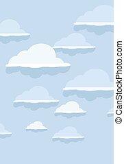 bleu, modèle, nuage, arrière-plan.