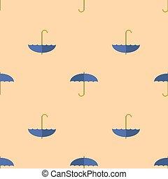 bleu, modèle, parapluie, seamless