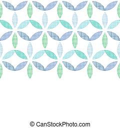 bleu, modèle, résumé, seamless, textile, arrière-plan vert, horizontal, feuilles
