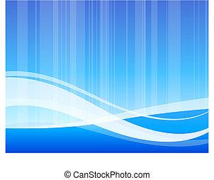 bleu, modèle, résumé, vague, fond, internet