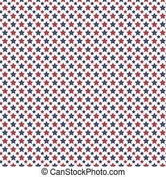 bleu, modèle, seamless, blanc, patriotique, géométrique, rouges