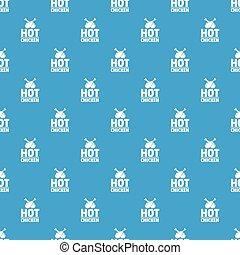 bleu, modèle, seamless, chaud, vecteur, poulet