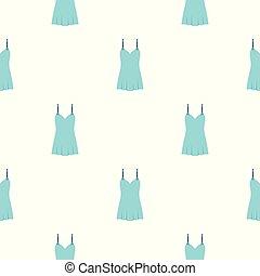bleu, modèle, seamless, chemise nuit