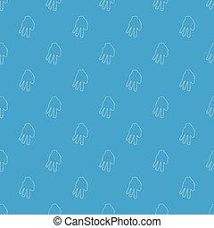 bleu, modèle, seamless, doigts, vecteur, trois