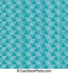 bleu, modèle, vecteur, seamless, triangles